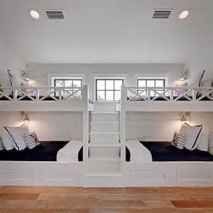 marvelous Boys Full Size Bedroom Set #3: m_white-built-in-bunk-beds-staircase-navy-border-bedding.png