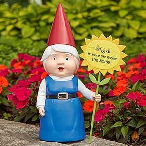 personalized female garden gnome