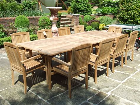 10 Seater Teak Set   Barbuda 10 Seater Double Extending