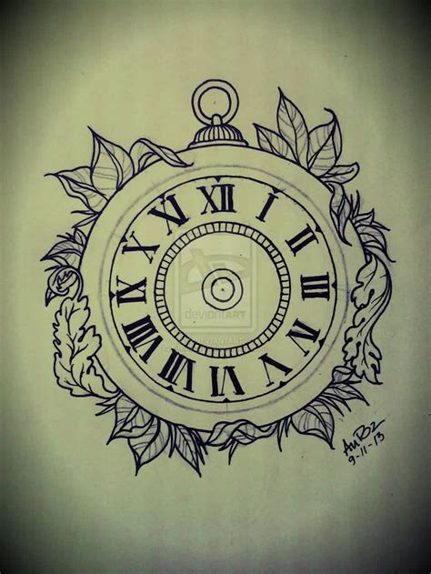 time clock tattoo designs best 25 clock tattoos ideas on time