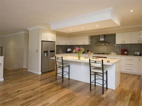Kitchen Layouts With Island Modern Island Kitchen Design Using Hardwood Kitchen Photo 470008