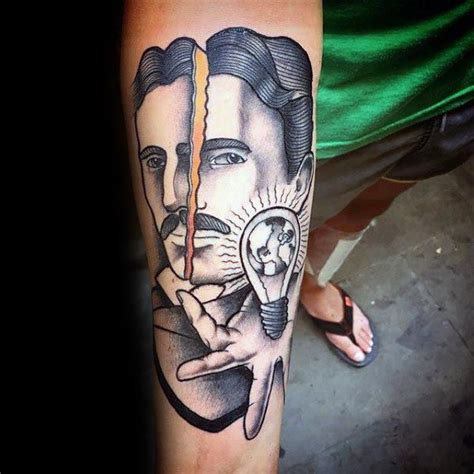 tattoo ideas for engineers 60 nikola tesla tattoo designs for men electrical
