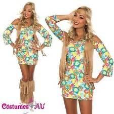 60s 70s retro hippie costume 1960s 1970s go go girl disco fancy dress