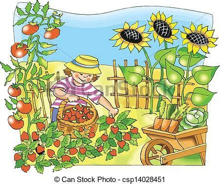 Vegetable Garden Clipart vegetable garden clip search plants and gardening gardens novels