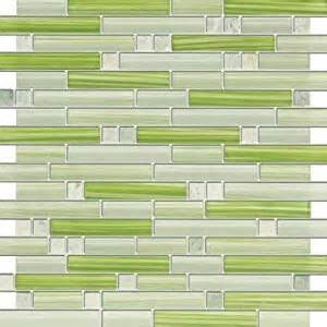 xen ming green and glass mosaic tiles for kitchen