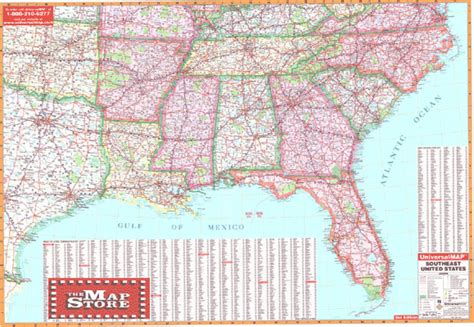 road map of east us amazing road map of southeastern united states emaps world
