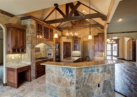 design custom home bailee custom homes rustic kitchen dallas by q home designs