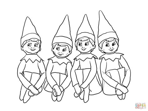 Elf On The Shelf Coloring Pages To Print Coloring Home Free Elves Coloring Pages