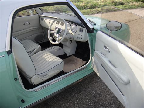 nissan figaro interior nissan figaro emerald green www figarospares co uk