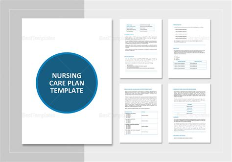 nursing plan template nursing care plan template in word docs apple pages