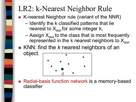 nearest neighbour rule pattern recognition ppt artificial neural networks lect3 neural network learning
