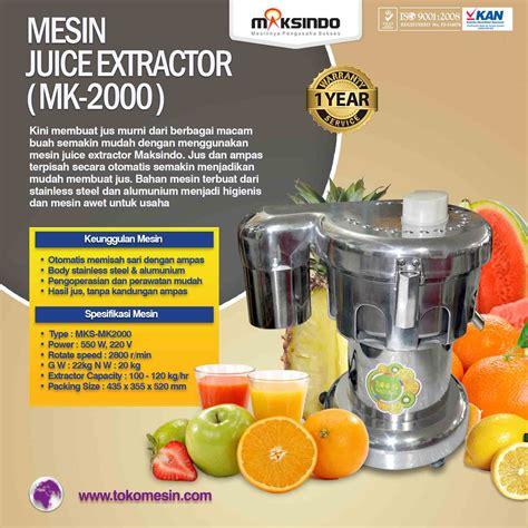 Juicer Di Hartono Surabaya jual mesin juice extractor mk 2000 di surabaya toko