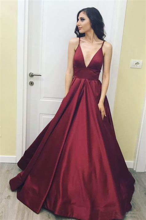 V Neck Prom Dress v neck prom dresses burgundy prom dress simple prom by