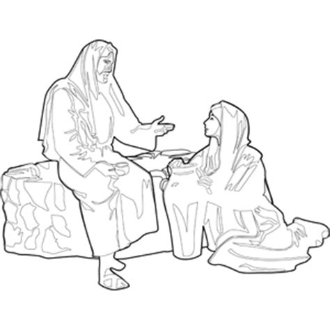 printable coloring pages woman at the well jesus with woman at the well coloring page