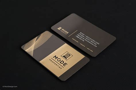 premium business card templates black and gold business card templates rockdesign