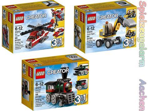 Brenda Set 3in1 lego creator set 31013 31014 31015 roter hubschrauber
