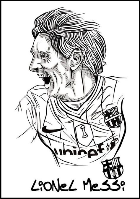 messi coloring pages messi soccer football player coloring pictures sport