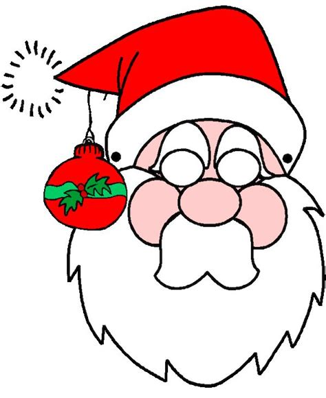 santa mask coloring page 29 best christmas printables images on pinterest