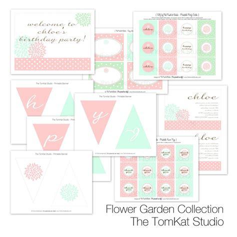 printable garden party decorations sweet customers chloe s flower garden first birthday