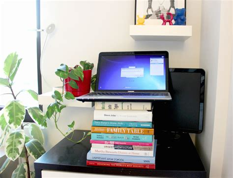 Diy Standing Desk Diy Standing Desk Stacked B Decoist