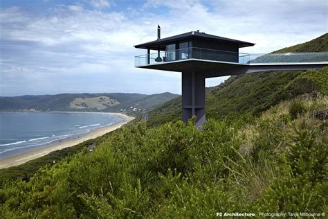 Narrow Modern Homes by Pole House On Great Ocean Road E Architect