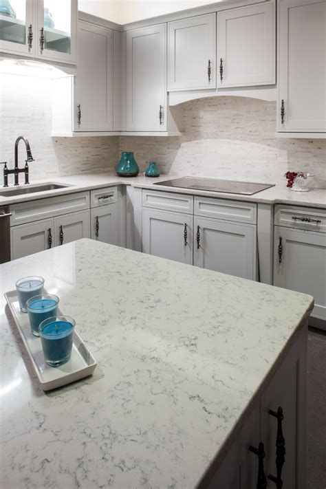 Lyra Quartz Countertops by Kitchens New View
