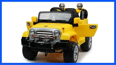 Ride On Power Wheels Jeep Style Jj245 Yellow Ride On Car