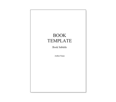 title page template book templates for microsoft word