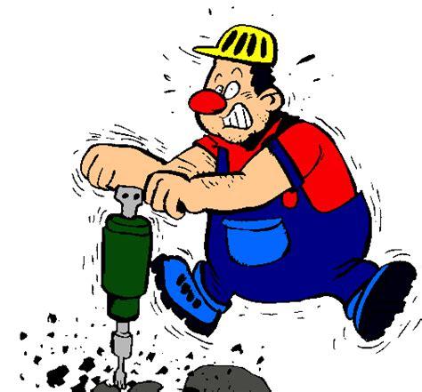 imagenes de ruidos fuertes dibujo de obrero pintado por taladrando en dibujos net el