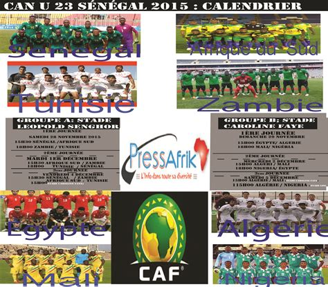 can u23 2015 le calendrier complet