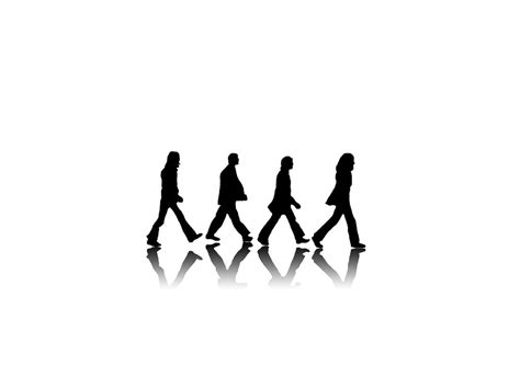 The Beatles Black White Iphone All Hp road black and white the beatles 1024x768 wallpaper high quality wallpapers high