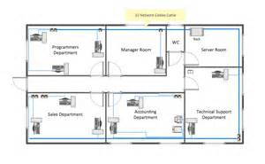 Floor Plan Blueprint by Network Layout Floor Plans Solution Conceptdraw