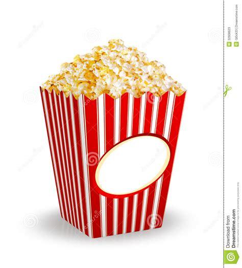box  popcorn stock illustration illustration