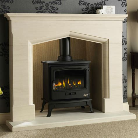Gas Stoves And Fireplaces Gallery Coniston Fireplace With Optional Tiger Gas Stove