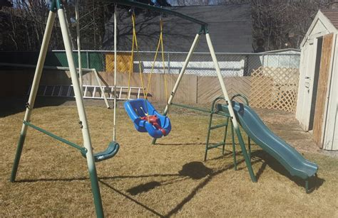 used swing sets metal swing set with slide and toddler swing south regina