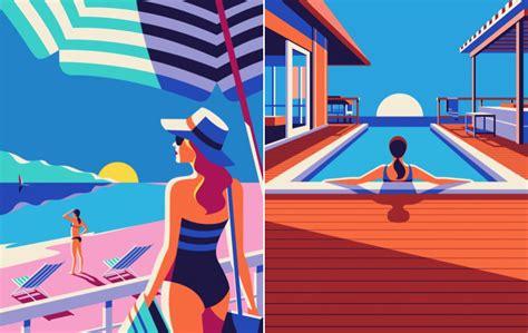 Art Deco Room travelillustrationsmalikafavre1 fubiz media