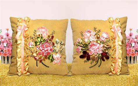 Bantal Cinta Stitch popular ribbon embroidery pillow buy cheap ribbon