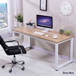 Home Office Workstation Desk Computer Desk Pc Laptop Table Wood Workstation Study Home Office Furniture Ebay