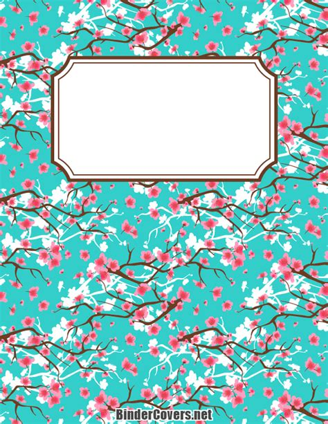 printable binder cover ideas printable cherry blossom binder cover
