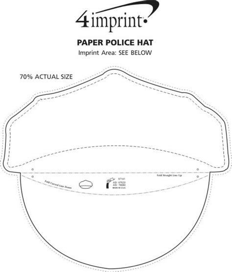 How To Make A Paper Army Hat - 4imprint paper hat 113605 imprinted with your