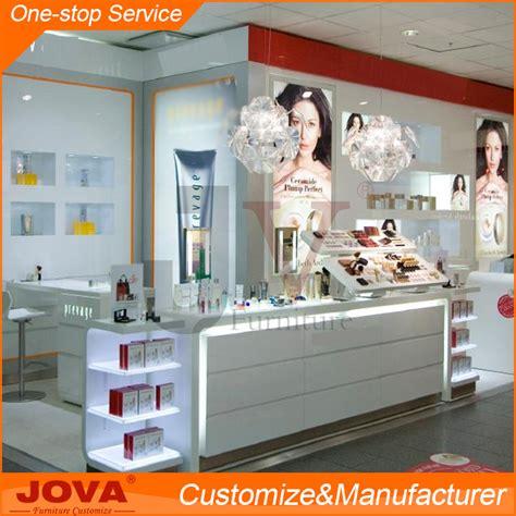 Rak Toko Kosmetik kayu kaca showcase kios kosmetik layar berdiri rak untuk