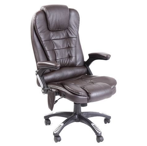 Reclining Office Desk Chair by Leather Reclining Office Chair W 6 Point High