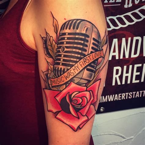 Tattooed Heart Mic Feed | the 25 best ideas about microphone tattoo on pinterest