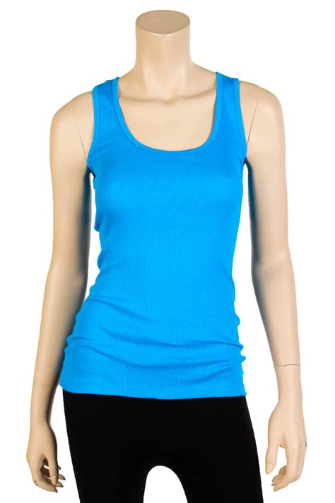 womens tank top 100 cotton heavy weight ribbed a shirt