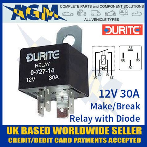 12v relay with diode 12v relay with diode 28 images 0 727 14 durite 4 pin 12v relay 30 with diode westwood