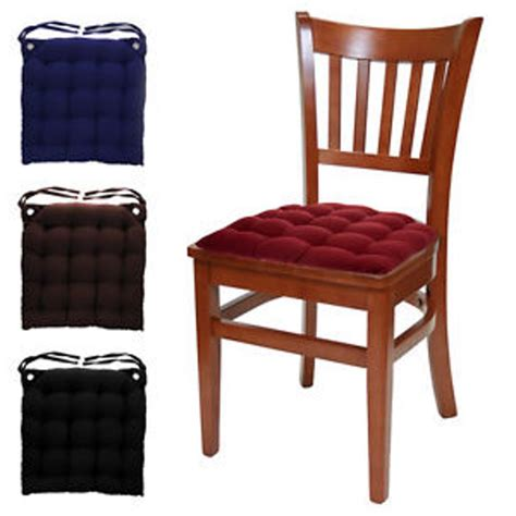 black kitchen chair cushions country pads without ties