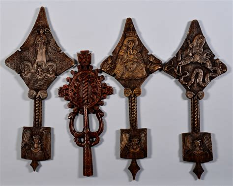 carved wooden ornaments lot 604 4 carved wood ornaments