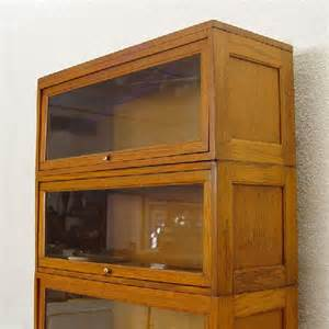 Barrister Bookcase With Glass Doors 218 Golden Oak 5 Stack Barrister Bookcase Lot 218