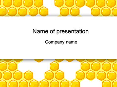 bee powerpoint template free honeycomb powerpoint template for your