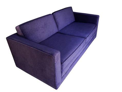 purple sofas for sale mid century modern purple velvet sofa settee by charles